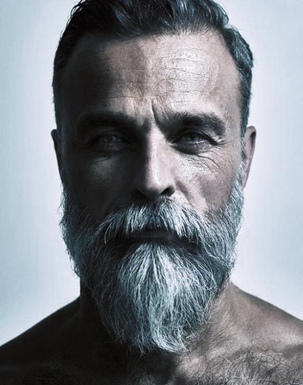 40 Modest Grey Beard Styles For Men Macho Vibes