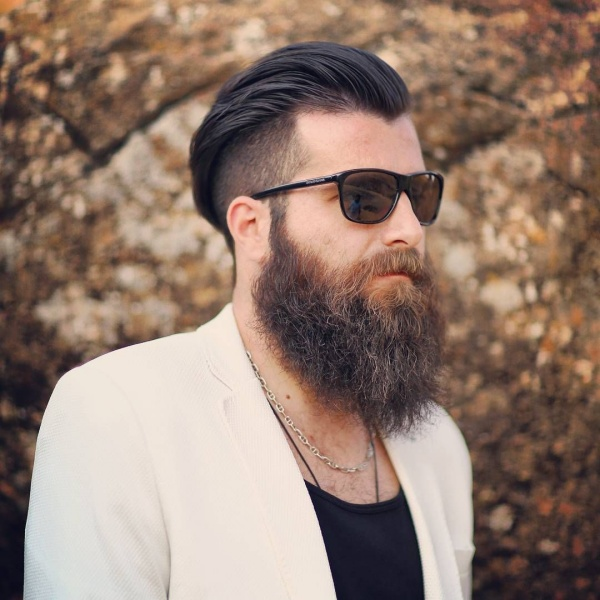 Viral Undercut Hairstyle With Beard For Men